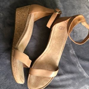 UGG heels in tan! Size 8.5
